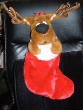 "Scooby Doo Christmas Singing Stocking Cartoon Network Hanna Barbera Plush 21"""
