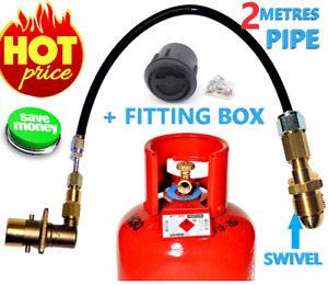 LPG Filling set with SWIVEL POL ADAPTER FO PROPANE BOTTLE CYLINDER 2 METRES PIPE