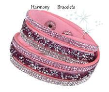 Baby Pink Swarovski Elements Wrap Glamour Bracelet by Harmony Bracelets