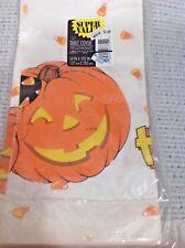 Ambassador Hallmark Paper Halloween Tablecloth Jack O Lantern Candy Corn 54 x102