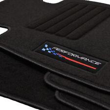 Velours Fußmatten passend für BMW 1er E87 5-türig ab Bj 09/2004 - 2013 Logo