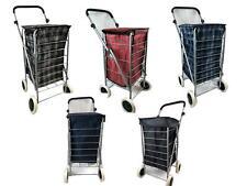 Bolsa carrito de la compra carro Mercado Plegable Movilidad de 4 Ruedas Plegable de Lavandería