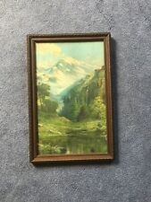Antique Framed Color Print Mountains Landscape Robert Atkinson Fox 18 x 12