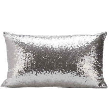 Sequins Sofa Bed Home Decoration Festival Pillow Case Cushion Cover Silver