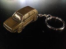 VW Golf GTI MK2 Brass Effect 3D split-ring keyring FULL CAR ref300
