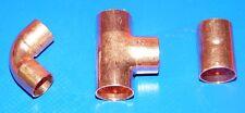 Té égal FFF cuivre 22mm à souder au millieu sur la photo