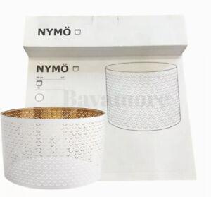 "Ikea NYMO Lamp shade, white/brass color 23 "" BRAND NEW"
