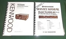 Kenwood TS-830S Service & Instruction Manuals - Card Stock Covers & 32 LB Paper!