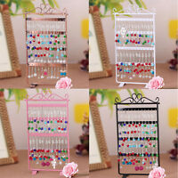 48Hole Display Rack Metal Stand Holder Closet Jewelry Earring Organizer Showcase