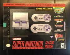 Official SNES Classic Mini Edition Super Nintendo Mario Kart DKC Zelda F Zero ++