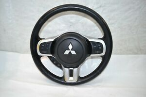 08-15 Mitsubishi Lancer Evolution X Leather Steering Wheel Oem Evox Ralliart