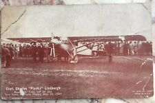 Aviation Arcade/Postcard: Capt. Charles 'Plucky' Lindbergh Spirit St Louis Airpl