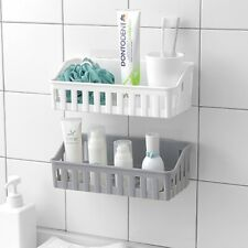 Bathroom Storage Basket Holder Shelf Shower Caddy Shampoo Suction Cup Newest UK