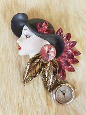 fancy lady broach L@k! Bonetto watch with