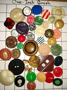 Vintage Lot Of Celluloid Buttons