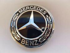 Mercedes Benz Emblem Schwarz Motorhaube Sternersatz 57 mm
