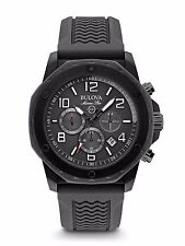 Bulova Marine Star Men's 98B223  Quartz Chronograph Black Rubber Band 44mm Watch
