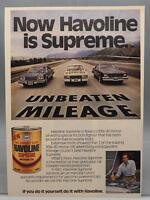 Vintage Magazine Ad Print Design Advertising Havoline Motor Oil