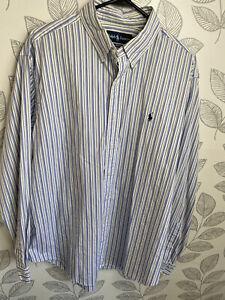 Polo Ralph Lauren Blue Strip Button Up XL