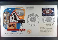 France 1967 FDC 1573a UER Radio and TV Europarat Union Europa Cept Sport