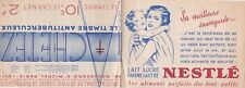 O282 Carnet de 14 timbres ANTITUBERCULEUX de 1935 NESTLE GALERIE BARBES