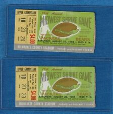 1964 GREEN BAY PACKERS VS. CHICAGO BEARS (2) STUBS (8/22/64) Midwest Shrine game