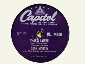 DEAN MARTIN - That's Amore / You're The Right One 78 rpm disc (A++)
