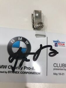 AARON RODGERS AUTOGRAPHED BMW PRO AM BADGE!!
