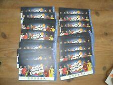 Lot de 30 pochettes collection MANGE COMME UN CHAMPION magasins CARREFOUR market