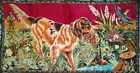 """Vintage Bird Dog Pointer Hunter Tapestry Wall Hanging Weighted Bottom 38""""x20"""""""