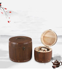 Wooden Barrel Canister Storage For Storing Tea Leaf Flour Coffee  Container new
