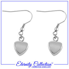 NEW! ECE02 Eternity Collection Cremation Jewellery 'Silver Hearts' Earrings