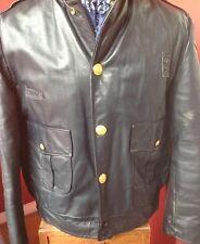 Dipartimento di Polizia di Chicago Dan Jack Vintage Giacca in Pelle