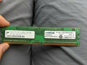 LOT OF 3 NEW Crucial 1GB 240-Pin PC2-6400 DDR2 Memory Module CT12864AA800.8FG