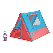 Authentic American Girl Sunset Sleepover Tent & Lantern-Fits 2 Dolls-New
