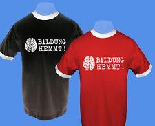 Männer Herren T-Shirt zweifarbig Bildung hemmt bedruckt move2be S M Bündchen