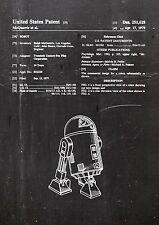 Star Wars r2-d2 brevetto ART 01. Fine Art-print in qualità Galleria. a4 Sheet 1
