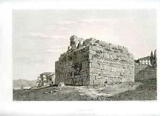 Gravure originale par Landron ABOULLIONTE (Aboulioun) Tour orientale,Turquie
