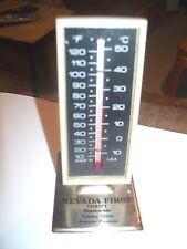 Vintage Desk Thermometer Nevada First Thrift Sidney Stern Founder President Reno