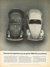 Vintage 1967 Magazine Ad Volkswagen Buy Two Bugs For The Price Of One Beast