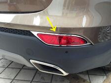 For Hyundai Santa Fe 2013+ ABS Chrome Rear Fog Light Cover Trim New
