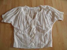 DIANE VON FÜRSTENBERG schöne leichte weite Bluse creme Gr. 36 w. NEU GS