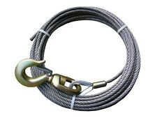 "B/A PRODUCTS 7/16""X75' STEEL CORE WINCH CABLE WITH SWIVEL HOOK - 4-716SC75S"