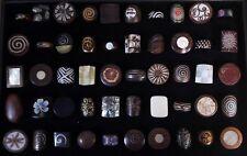 50 piezas al por mayor de joyas mixtas hueso de madera hecho a Mano Natural Moda Anillo muchos 52