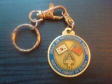 MILITARY Challenge Coin keychain Osan Airforce Base Serving Christ Protestant