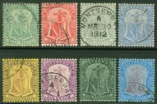 SG 35-45 Montserrat 1908. ½d to 2/- WMK mult crown. Very fine used CAT £185