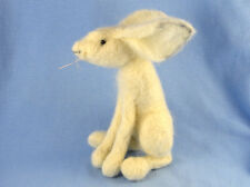 Needle Felting Kit For Snow Hare, Moon Gazing Hare, Collectible, Fun, Craft Gift