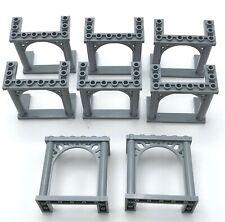 Lego 8 New Light Bluish Gray Bricks Arch 3 x 6 x 5 Ornamented Pieces
