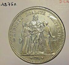 5 Francs, 1874 <<==1875==> 1876 A & K  France, Hercule KM# 820