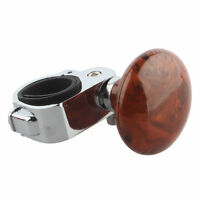 Brown Hand Control Steering Wheel Power Car Grip Spinner Knob Handle Aid Ball